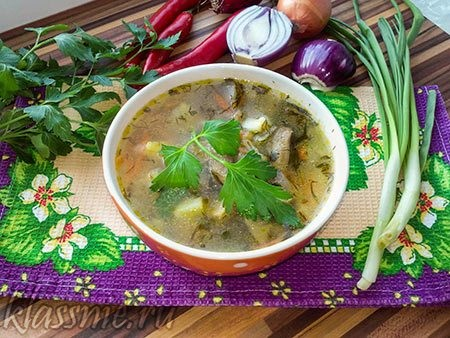 Суп из перловки с грибами, рецепт постный, с фото пошагово