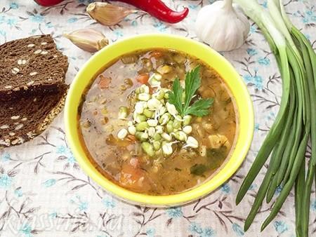 Вегетарианский суп с машем: машхурда по-узбекски