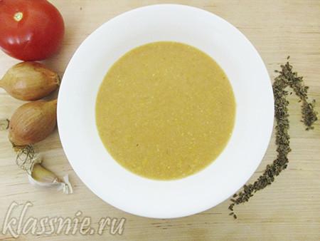 Крем суп из кукурузы с рисом