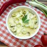 Грибной жульен с овощами под сыром