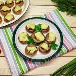 Фаршированные сушки с грибами и сыром