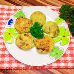 Соленые сырники с зеленью