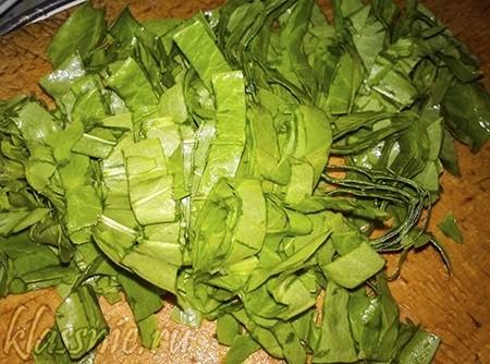 Зелень нашинкована