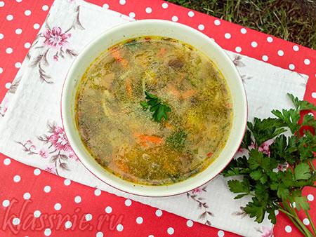 Дачный суп из зелени