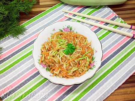 Кабачки с морковью по-корейски — быстрый рецепт
