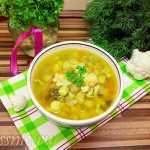 Суп с цветной капустой и чечевицей