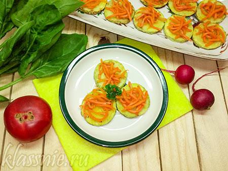 Жареные кабачки с корейской морковью