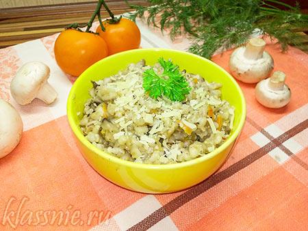 Перлотто с грибами — пошаговый рецепт с фото