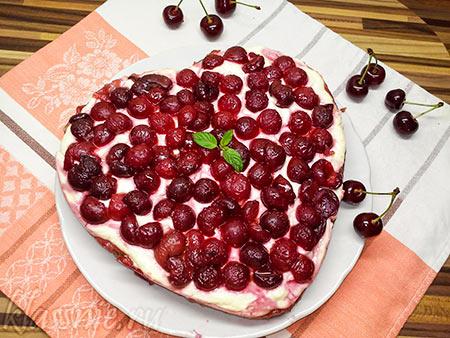 Творожный пирог без яиц