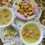 Суп пюре из кабачков с сыром