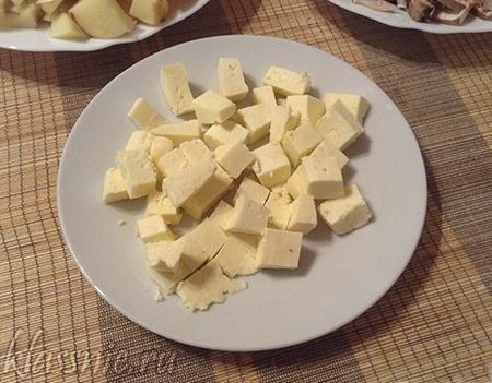 Молочный продукт кубиками