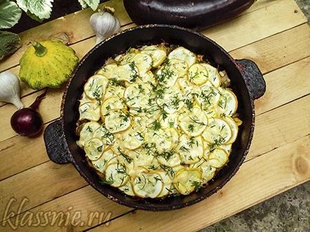 Запеканка из овощей с сыром
