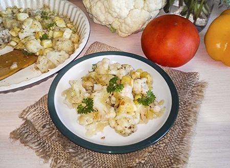 Рецепт запеканки из цветной капусты и кабачков