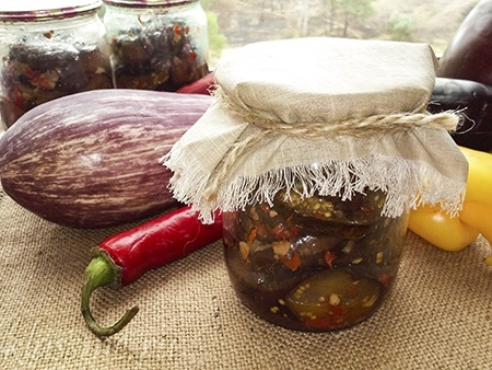 Жареные баклажаны на зиму с чесноком