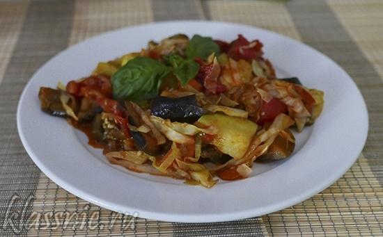 Рагу с баклажанами и кабачками - вегетарианский рецепт