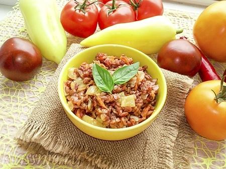 Как приготовить рис с овощами на сковороде