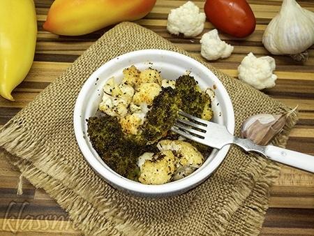 Запеканка из цветной капусты и брокколи