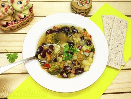 Аппетитный суп с бобовыми