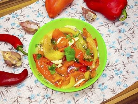Маринованные болгарские перцы быстрого приготовления