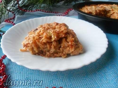 Яблочный пирог без яиц на кефире — в духовке