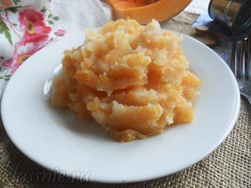 Пюре из тыквы и картофеля — рецепт с молоком