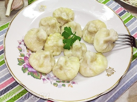 Хинкали с сыром сулугуни