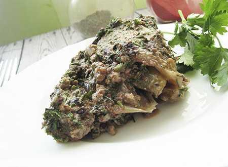 Пхали по-грузински с орехами, печеными перцами и зеленью, рецепт с фото
