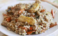 Гречка с грибами и морковью со специями