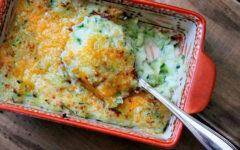 Запеканка из кабачков и картофеля под сыром
