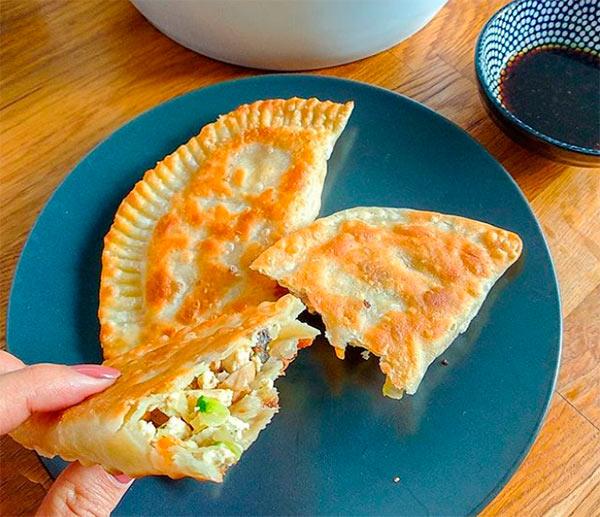 Чебуреки с тофу