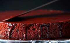 Шоколадно-ванильный торт - очень простой рецепт!