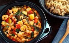 Рис с овощами и нутом на гарнир