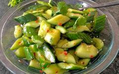 Салат битые огурцы по-китайски