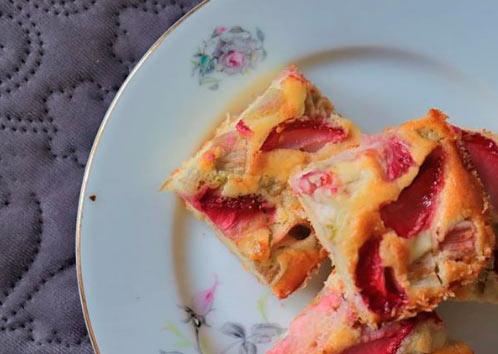 Веган пирог с клубникой