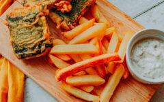 Жареная рыба из тофу Fish & Chips